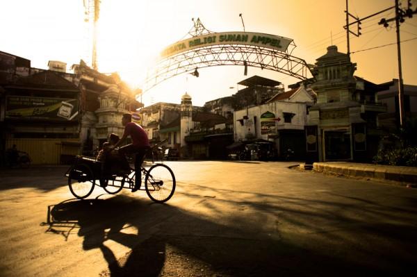Surabaya pedicab