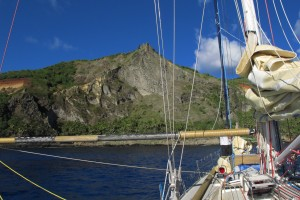 Arriving at Bounty Bay on Pitcairn Island