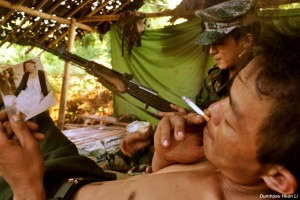 Front-line Kachin Independence Army soldier