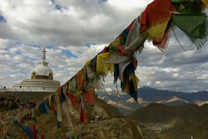 Make time to watch the sunrise from the top of the Shanti Stupa above the city of Leh, while listening to the resident caretaker monks chant their morning prayers.