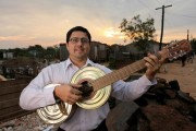 Favio Chavez, Director of the Orchestra. Photo courtesy of Landfill Harmonic