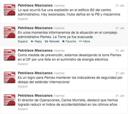 Pemex tweets