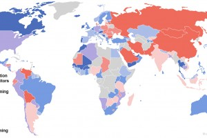 140 countries ranked on openness to foreigners