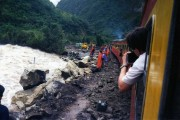 The line to Machu Picchu had only just reopened following massive landslides and flooding - there was still a lot of work in progress.