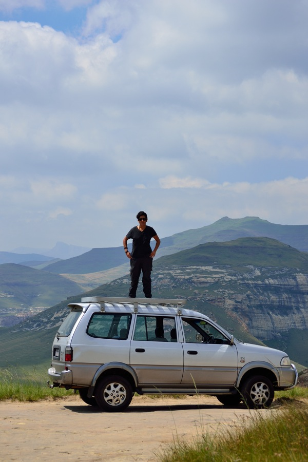 Tsitsikamma to Tataouine Expeditioner standing on car