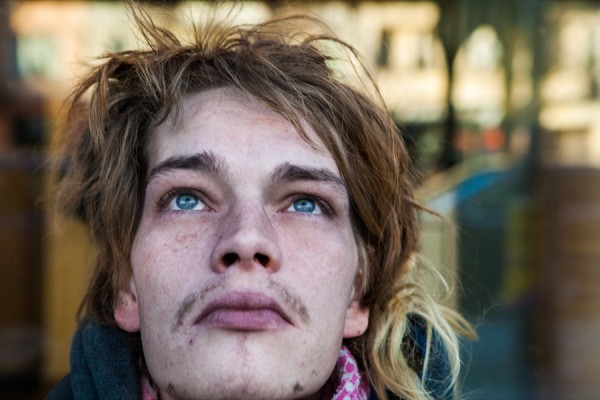 A homeless young man