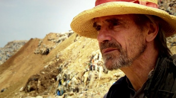 Jeremy Irons in a landfill