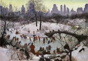 Agnes Tait: Skating in Central Park, 1934