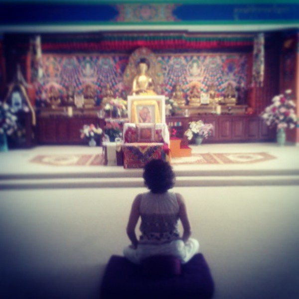 Inside the Buddhist center