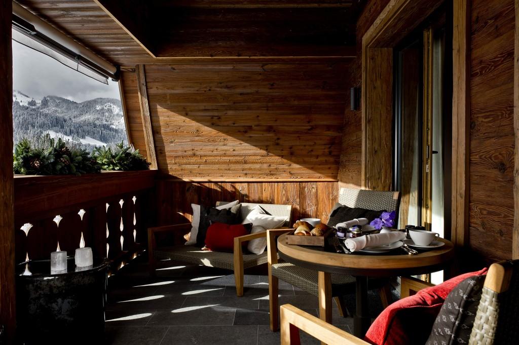 Alpina Gstaad balcony