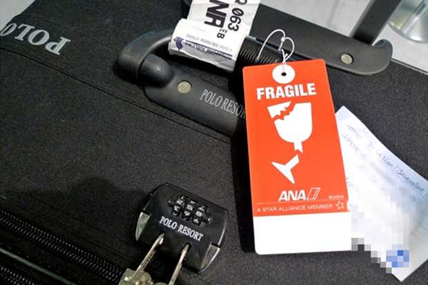 fragile luggage tag