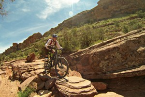 Moab mountain biker