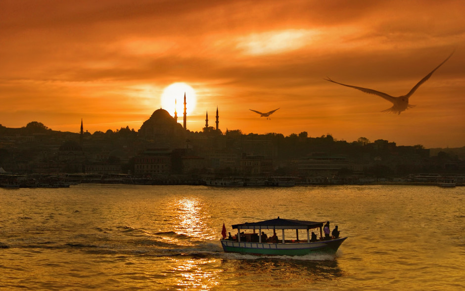 Old Istanbul sunset