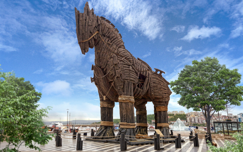 Trojan horse from the movie