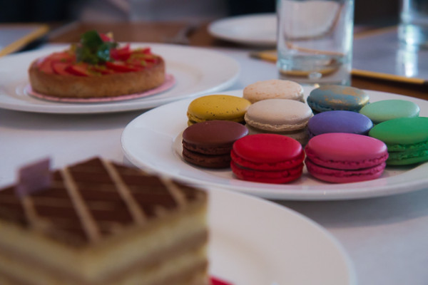 A galaxy of macaroons from Bottega Louie on 7th. The French-style patisserie opened in 2009 and by 2012 was named the Most Popular Restaurant in America by Yelp.