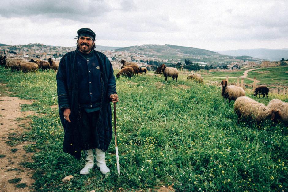 Shepherd at Jerash, Jordan