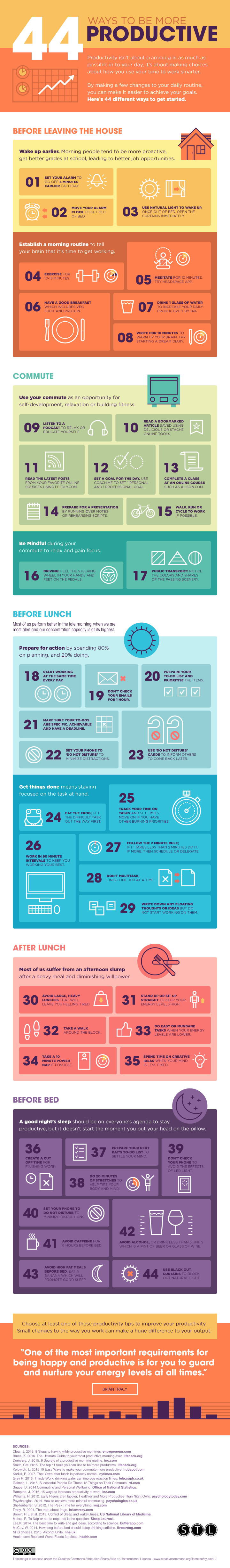 infographic 44 ways to be more productive matador network. Black Bedroom Furniture Sets. Home Design Ideas