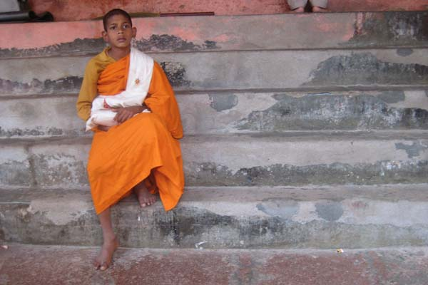 Child monk in Bodh Gaya
