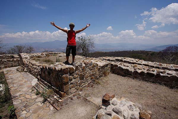 Carlo Alcos at Monte Alban, Oaxaca, Mexico