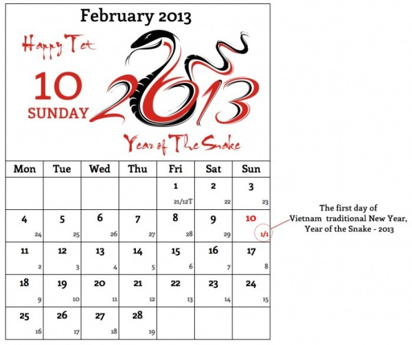 Vietnamese Calendar