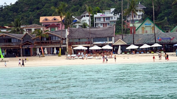 White Beach and Obama Grill, Boracay, Philippines