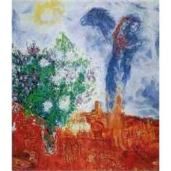 Saint Paul Couple-by Marc Chagall