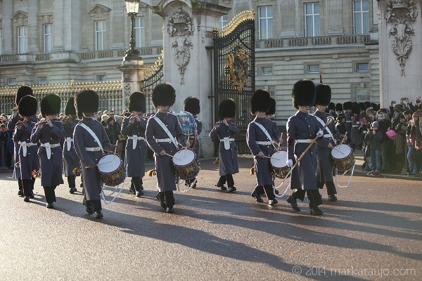 They belong to a number of historic regiments, such as the Grenadier Guards or the Scots Guards.