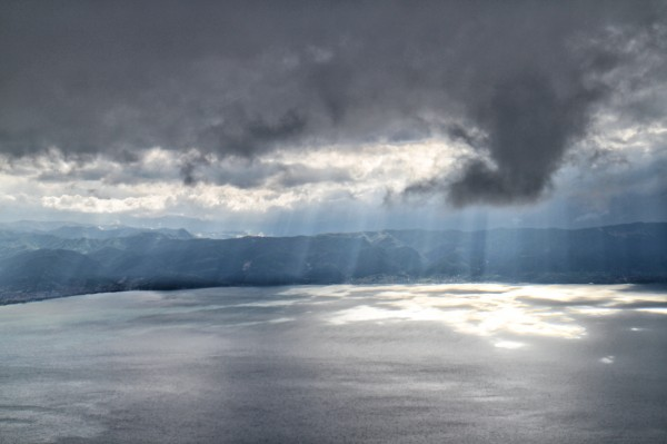 Storm over Ohrid lake