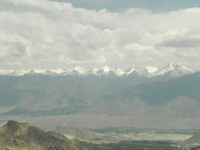 A View of Karakoram Near Leh Town