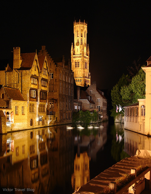 Bruges at night. Belgium.