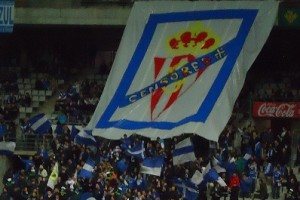"The ""Hooligan"" section in the Real Oviedo Stadium"