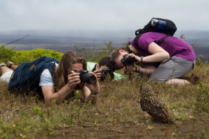 Taking Photos in the Galapagos