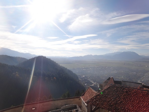 Carpathians seen from Rasnov citadel