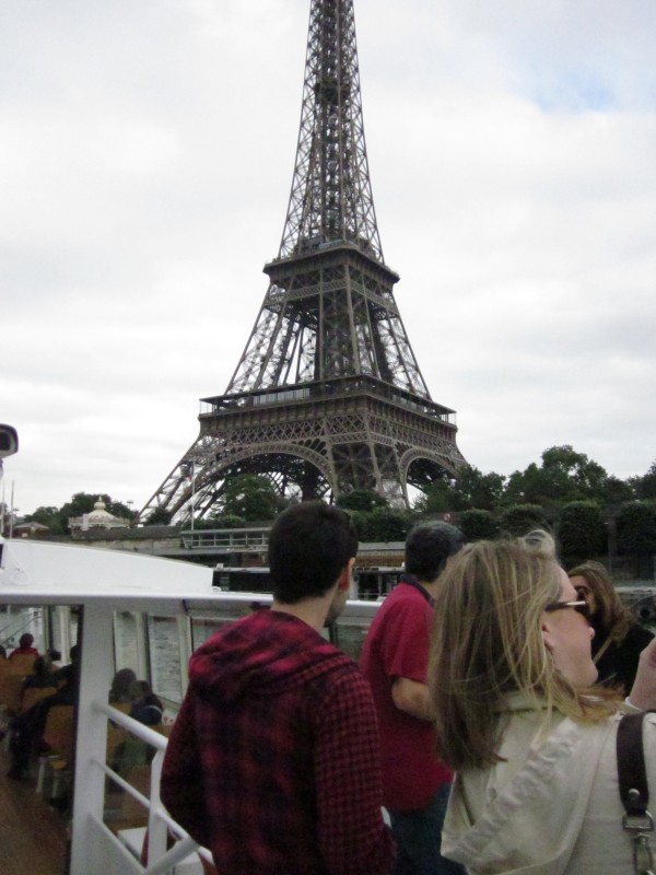 Hey mum! Check out my Eiffel Tower picture! I know the top got chopped off and there's people in the way, but I was there!!