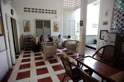 Common room of the guest house
