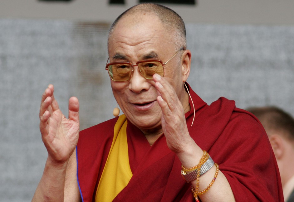 Tenzin Gyatso, the 14th Dalai Lama. Photo obtained from TodayIFoundOut.com.