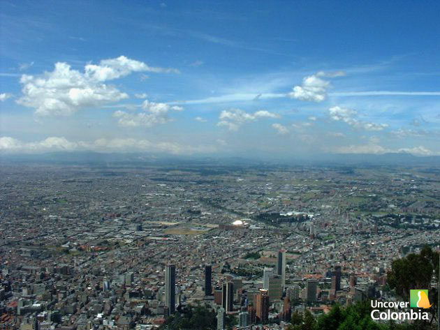 View of Bogota from the top of Monserrate