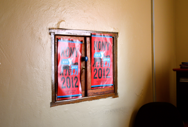 Kony 2012 posters at Invisible Children's Gulu office.