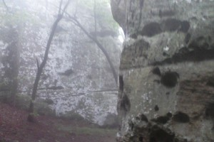 A foggy Rock City