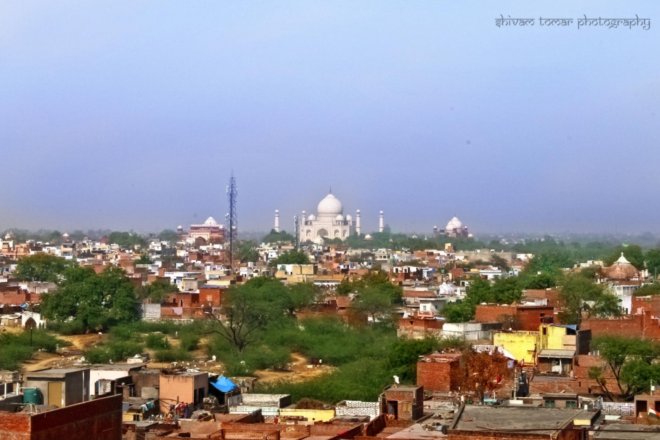 slums and Taj