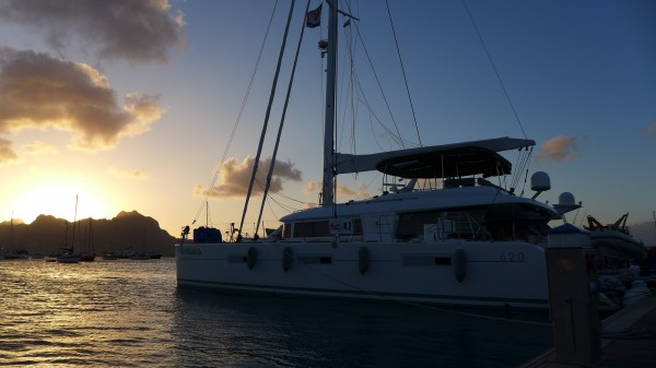 The 62ft catamaran where I will wash dishes to get to the other side of the Atlantic Ocean.