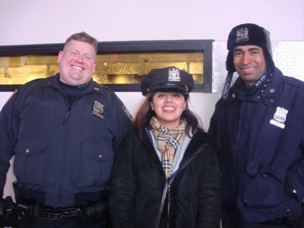 Me with some police officers in Times Square