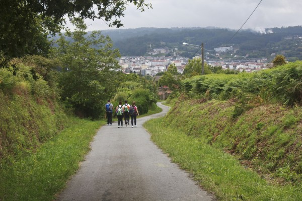 My friends and I head down to Betanzos.