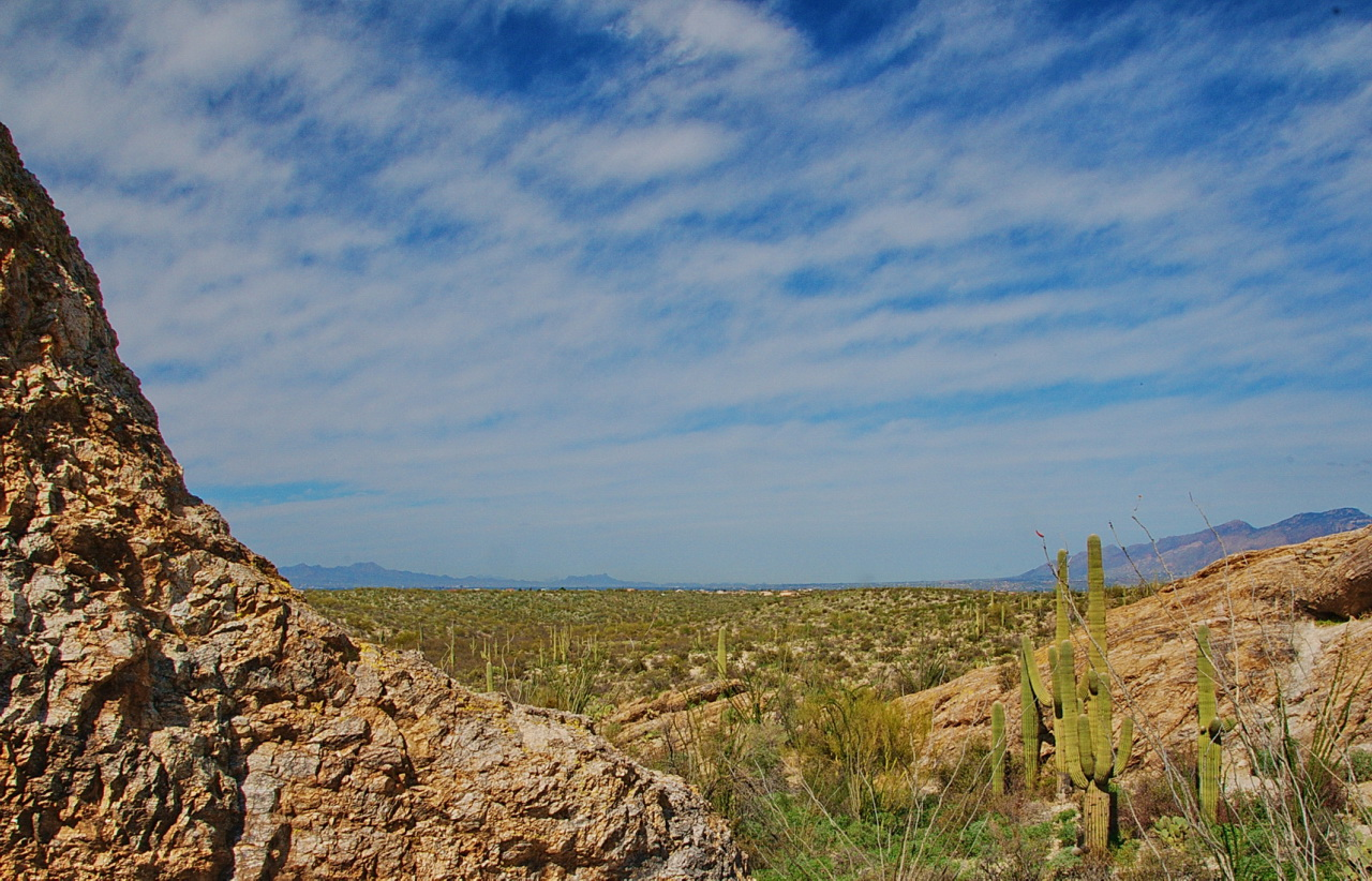 Rock framed vista from Saguaro Park East