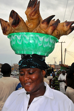 Meat Vendor in Nigeria
