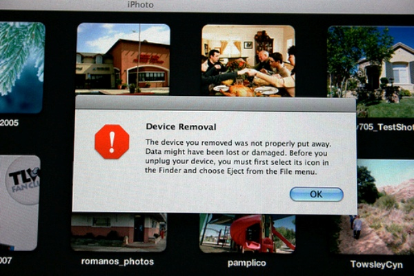 Mac Device Removal Warning