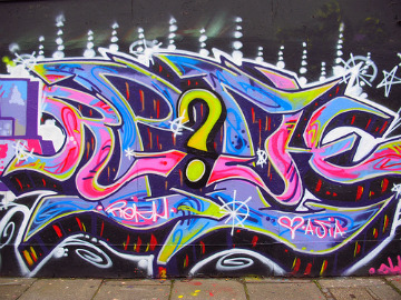 Graffiti with question mark