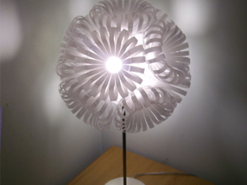 Lamp made from Coca-Cola bottles