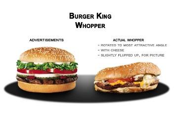 Burger King burger comparison