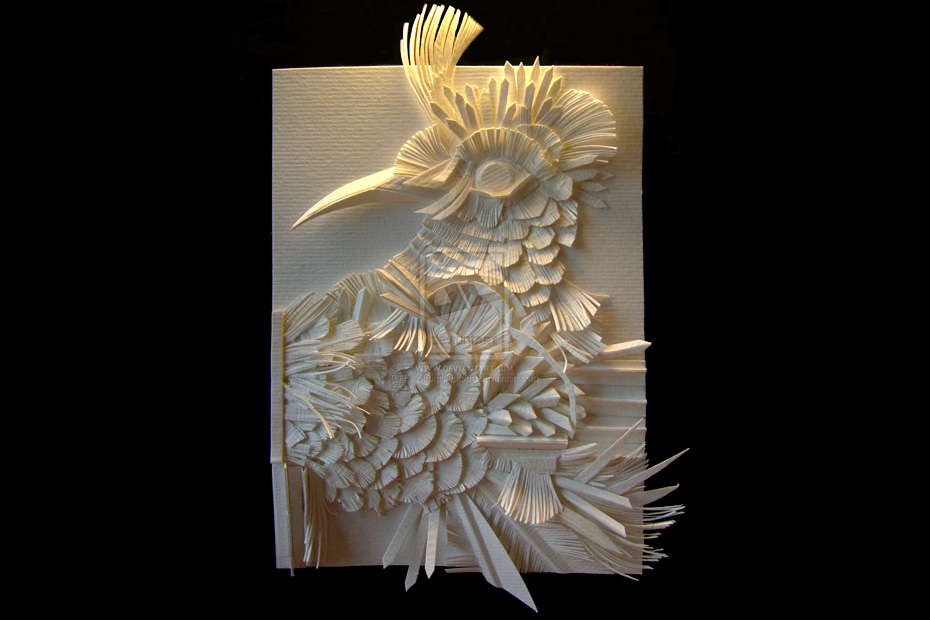 white shadows paper art